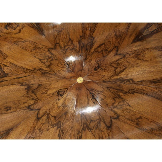 """Traditional Regency Style Rosewood And Gilded """"Jupe"""" Capstan Dining Table For Sale - Image 3 of 11"""