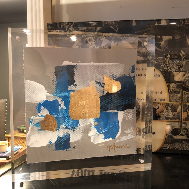 Lucite Original Art Floating in Lucite For Sale - Image 7 of 13
