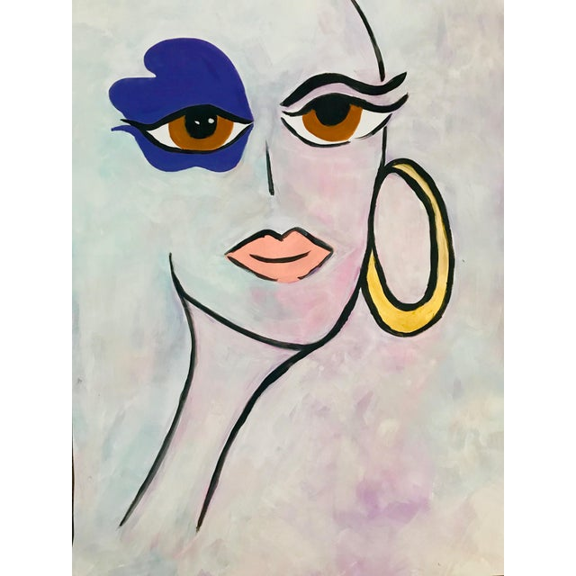 Tony Marine Contemporary Portrait Painting For Sale