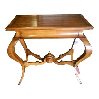 Walnut Venetian Console Table by Quadrus Studios For Sale