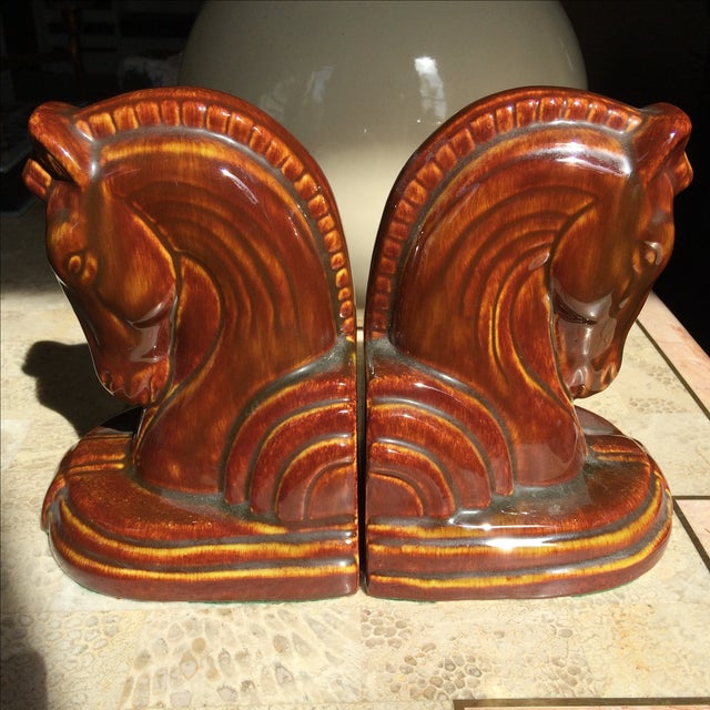 Art Deco Horse Head Bookends - A Pair - Image 2 of 5