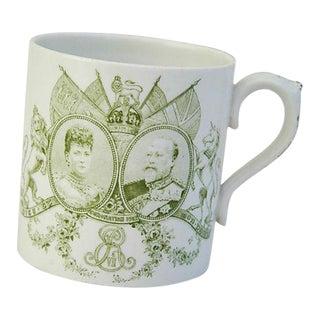Antique Circa 1902 Edward VII & Alexandra English Coronation Mug Cup For Sale