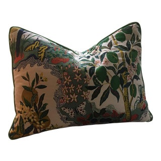 "Schumacher ""Citrus Garden"" Printed Linen Pillow"