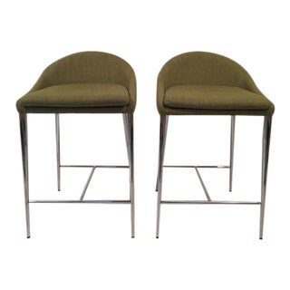 Zuo Modern Counter Height Barstools–Pair For Sale