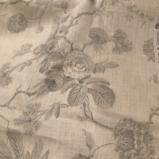 2010s Boho Chic Château De Grancey by Brunschwig & Fils Linen Fabric For Sale - Image 5 of 6