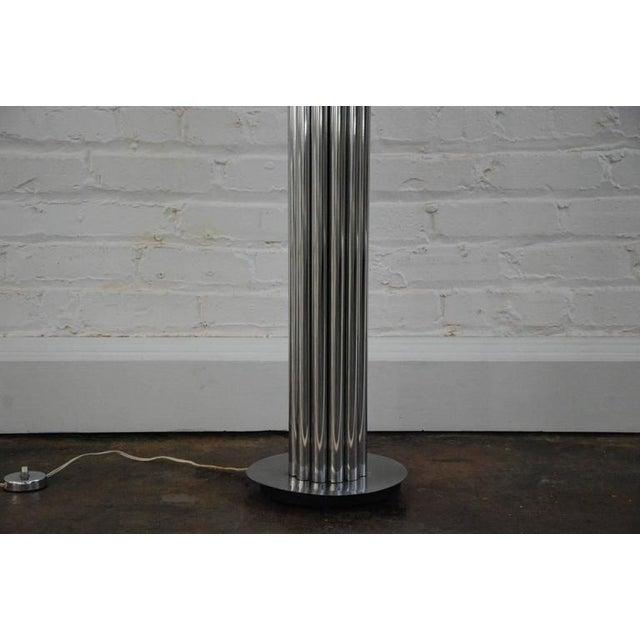 George Kovacs Chrome Tubular Floor Lamp For Sale - Image 5 of 8