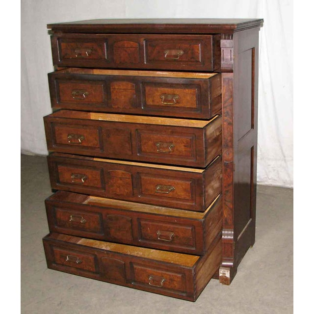 Very well made masculine dresser with lots of drawers. This is an original piece from the late 19th century with dove tail...