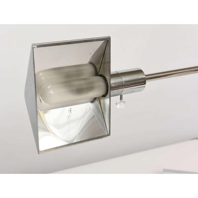 Early Cedric Hartman American Modern Polished Chrome Desk Lamp For Sale In Miami - Image 6 of 9