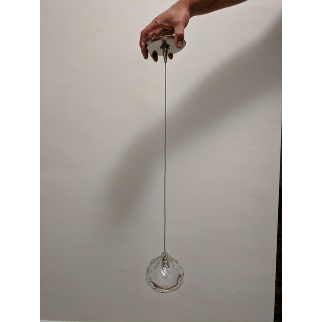 Never used, Clear Happy Pendant Lights - canopy included - Handblown glass by Siemon & Salazar This pendant consists of...