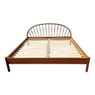 1960's Jesper Furniture of Denmark King Size Bed Frame Mid Century Danish Modern For Sale