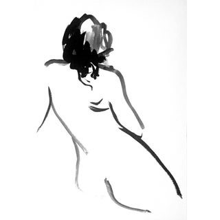 One Minute Pose Nude 133.4 Contemporary Painting by Gretchen Kelly For Sale