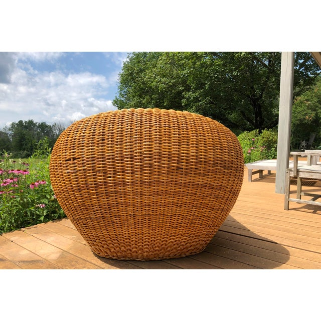 Wicker Vintage Wicker Orb Chair For Sale - Image 7 of 13
