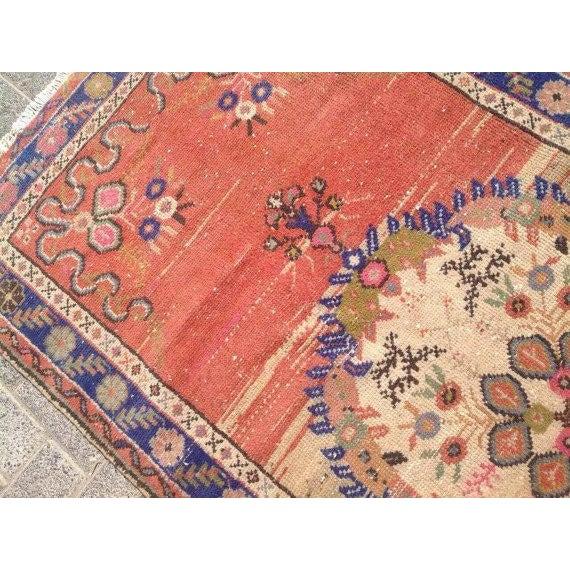 "Vintage Anatolian Rug - 3'1"" x 6'6"" For Sale - Image 5 of 6"