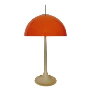 Vintage Modern Orange Mushroom Table Lamp With Tulip Base by Pugar Made in Spain For Sale