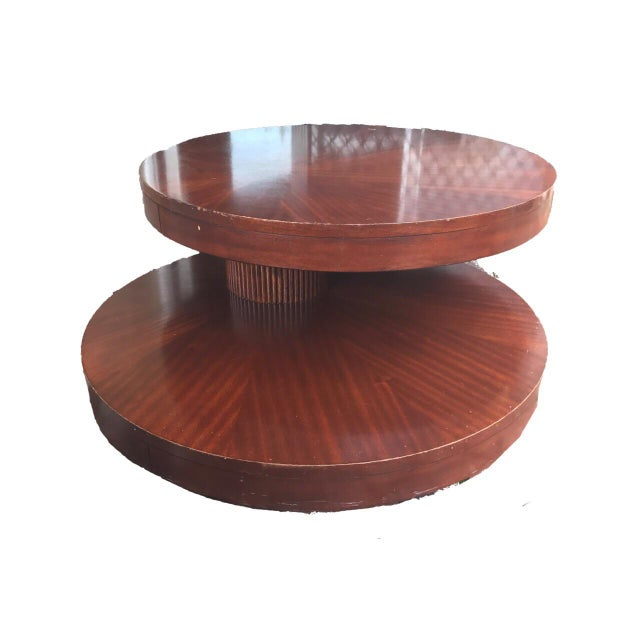 Round Wooden Rotating Coffee Table - Image 9 of 10