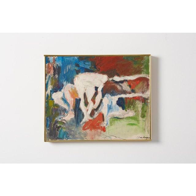 """Emilo Cruz, """"Figures in a Landscape"""" - Image 2 of 3"""