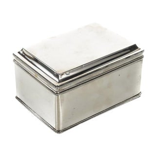 Dutch Silver Biscuit Box Mark of Bonebakker For Sale
