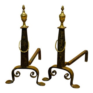1920s Traditional Andirons - a Pair For Sale