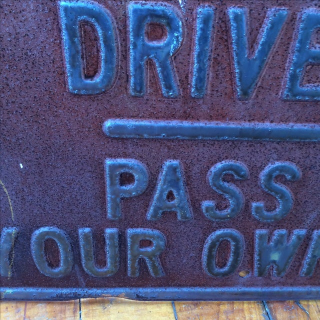 Vintage Private Driveway Sign - Image 5 of 6