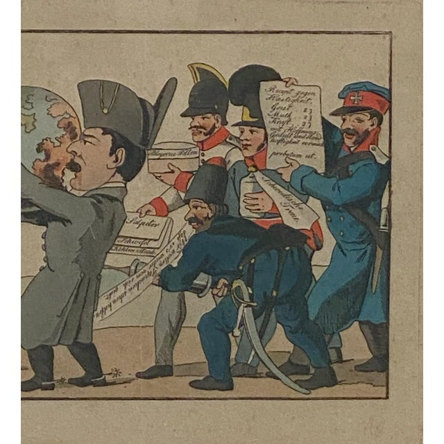 19th Century 1810 Napoleon & the World Political Cartoon, France For Sale - Image 5 of 6