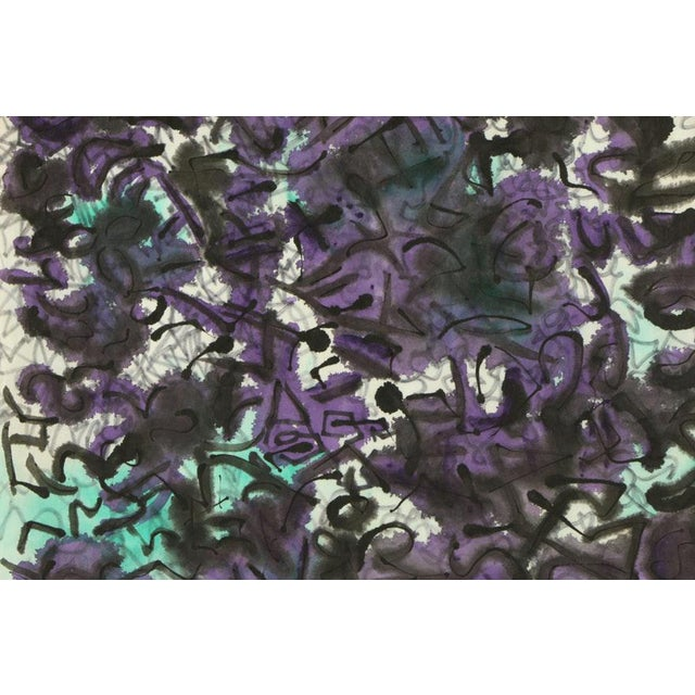 Abstract Ink and Watercolor on Paper by Louis Papp (1930-2012) For Sale - Image 3 of 5