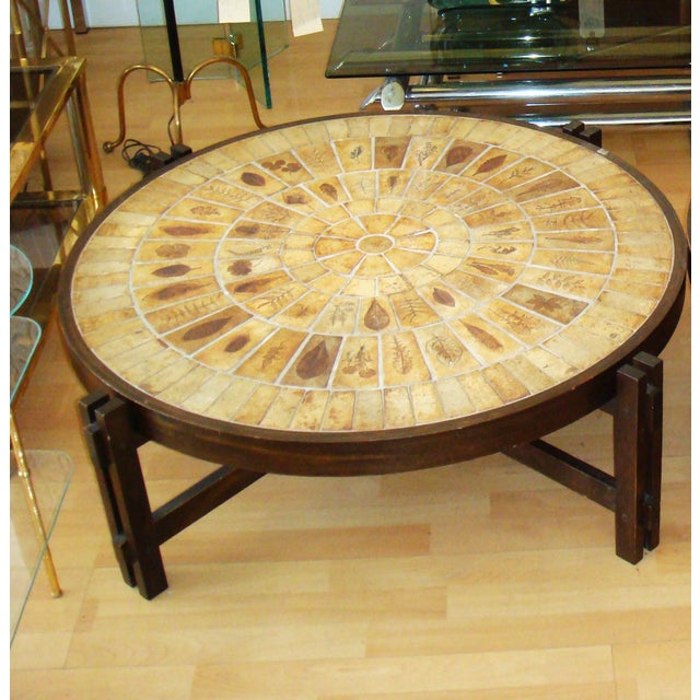 Vintage French Coffee Table Signed Roger Capron - Image 3 of 4