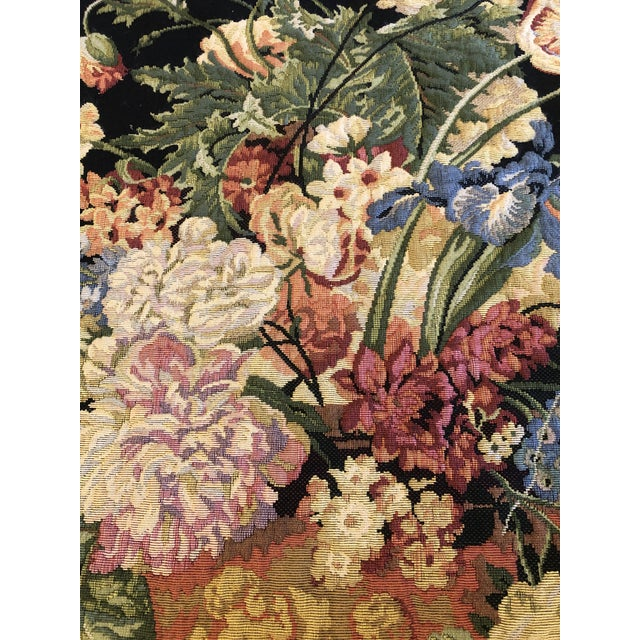 Large Vintage Hanging French Tapestry Wall Art For Sale - Image 10 of 11