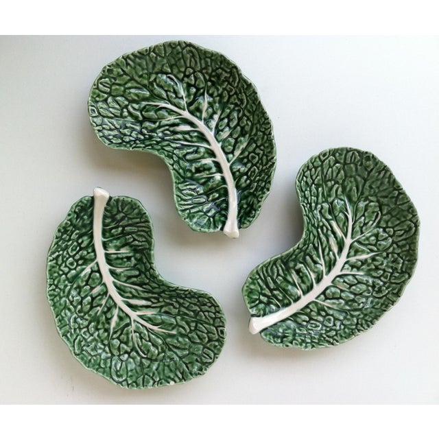 Majolica Vintage Majolica Cabbage Serving Dishes - Set of 5 For Sale - Image 4 of 6