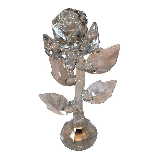 Crystal Rose Stem Figurine For Sale