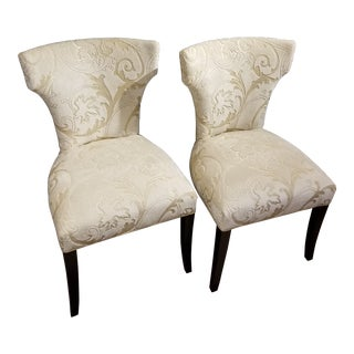 Pair of Upholstered Chairs For Sale