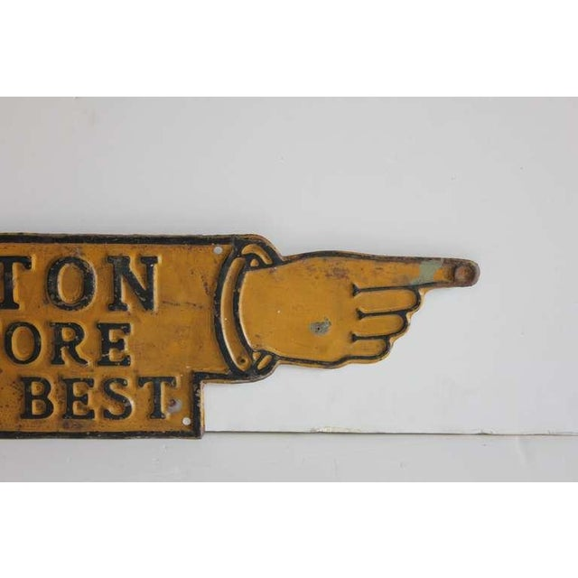 Antique Pointing Finger Advertising Sign - Image 4 of 4