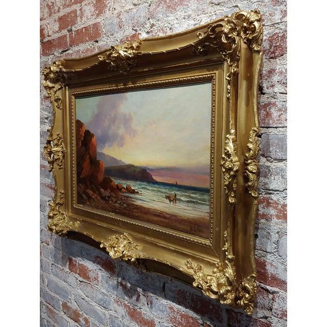 Canvas William Edward Webb - 19th Century Coastal Beach Scene -Oil Painting For Sale - Image 7 of 11