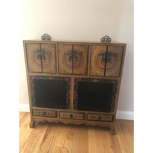 Green 19th Century Antique Wood Cabinet For Sale - Image 8 of 8