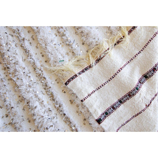 Vintage Moroccan Blanket Throw - Image 8 of 9