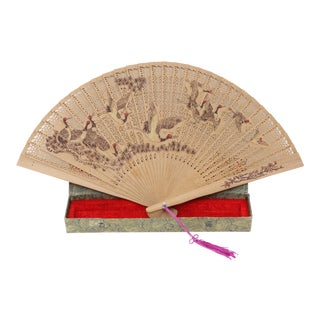 Hand Painted scented Wooden Fans For Sale