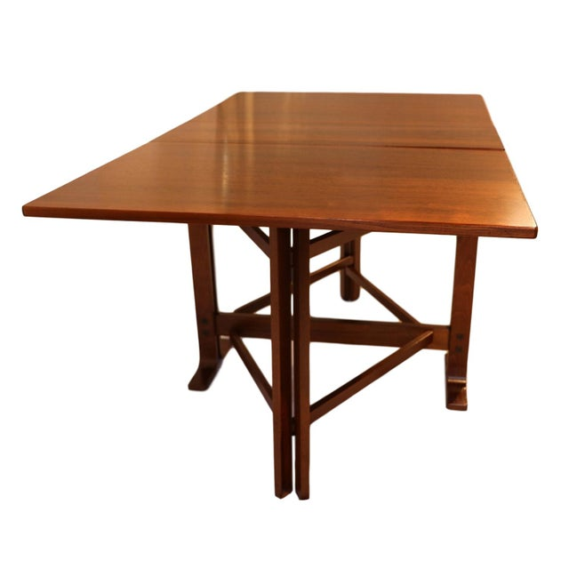 Mid-Century Modern Danish Drop Leaf Teak Dining Table Bruno Mathsson Style For Sale - Image 3 of 10