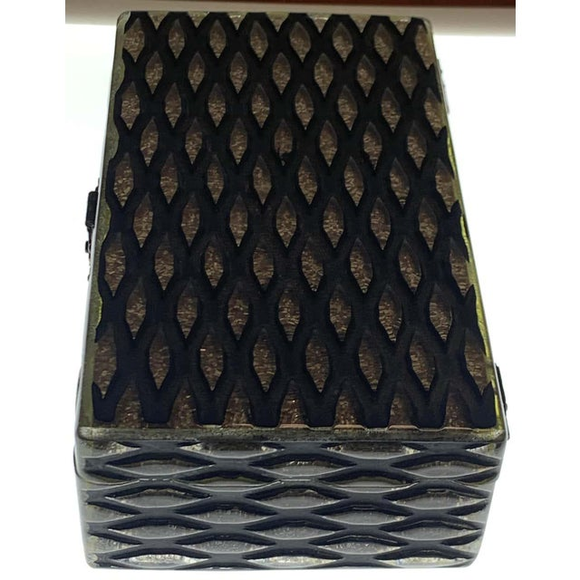 French Art Deco Herringbone Celluloid Box For Sale - Image 10 of 13