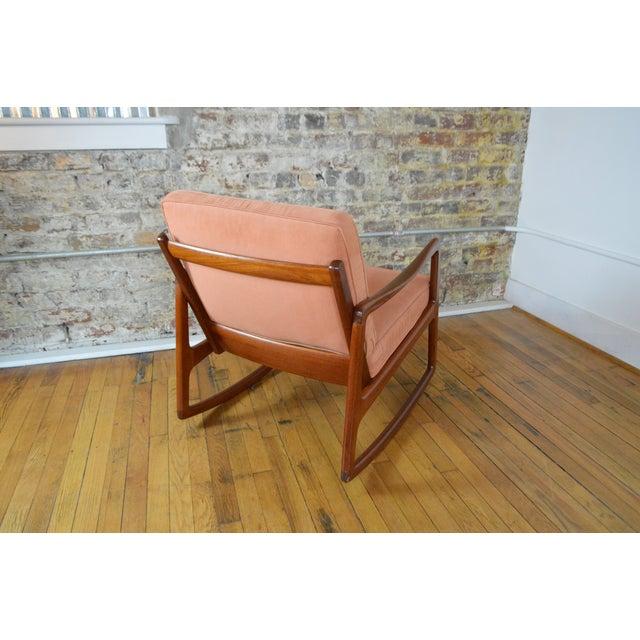 France & Son Ole Wanscher Danish Modern Teak Rocking Chair For Sale - Image 4 of 9
