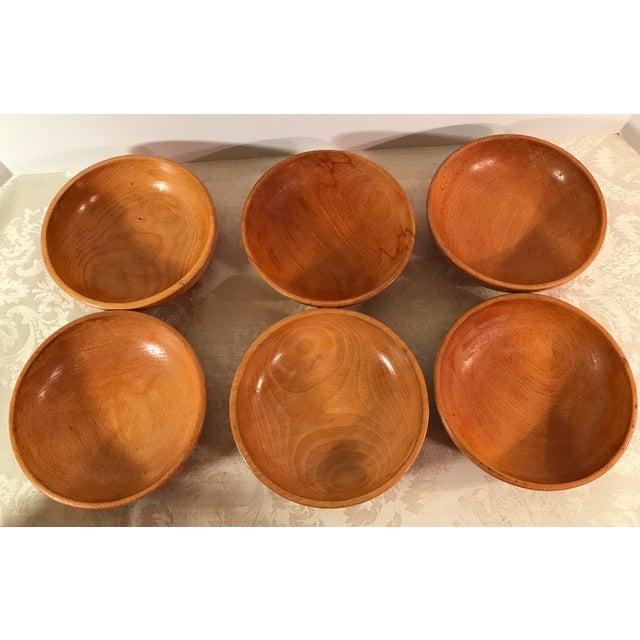 Mid-Century Modern Wooden Salad Bowls - Set of 7 - Image 4 of 11