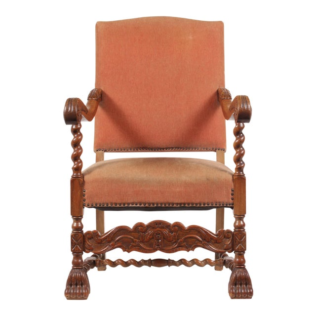 1920s English Baroque Armchair For Sale