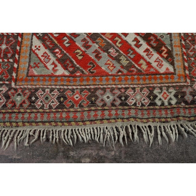 Antique Kurdistan Hand Made Tribal Rug - 4' X 7' For Sale - Image 4 of 10