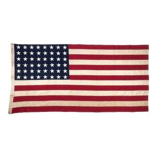 Vintage Sewn 48 Star American Flag For Sale
