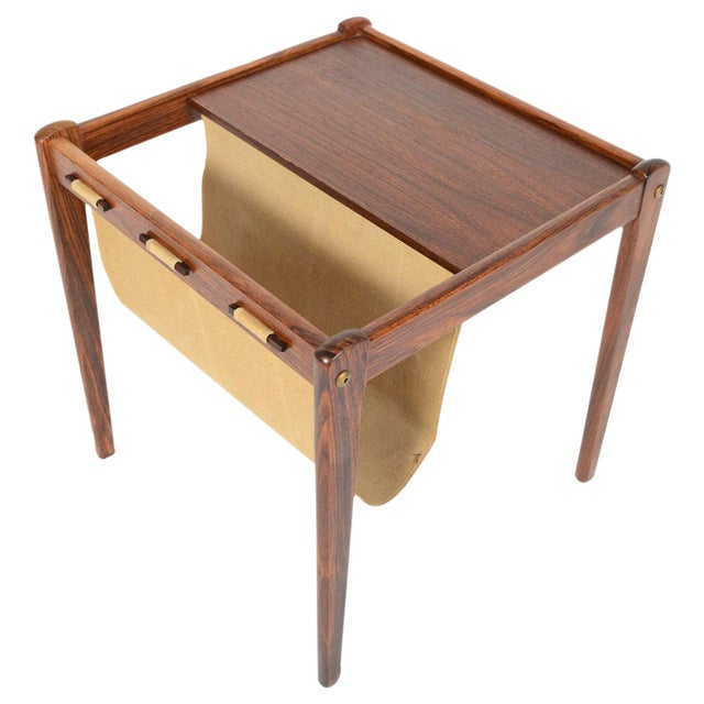 Bent Silberg Danish Modern Rosewood Side Table - Image 1 of 7
