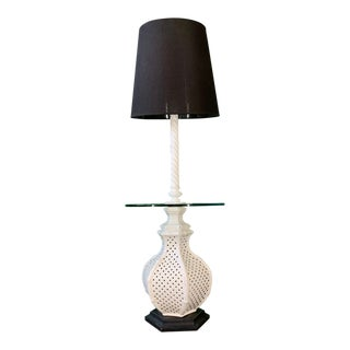 Reticulated Ceramic Floor Lamp Table by Nardini For Sale