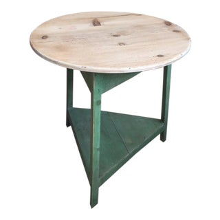 20th Century Country Painted Cricket Table With Pale Top For Sale