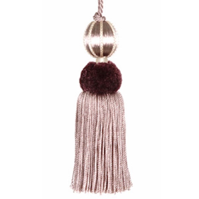 Art Deco Merrivale Wisteria Beaded Key Tassel - H 4.5 Inches For Sale - Image 3 of 8