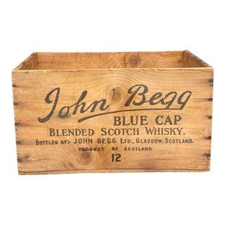 1950s John Begg Whiskey Crate For Sale
