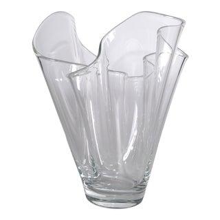 Hand Blown Transparent Handkerchief Vase
