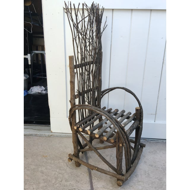 Adirondack Bent Twig Willow Chair - Image 5 of 6