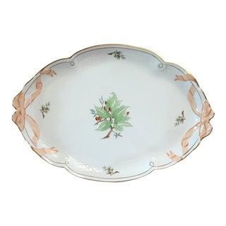 1970s Vintage Herend Rosehip Porcelain Platter For Sale